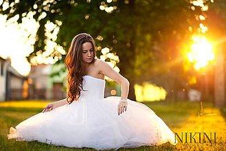 Šaty - Krátke svadobné šaty, retro tylové svadobné šaty - 5340936_