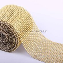 Galantéria - Kamienková stuha zlatá - cena za 10 cm - 5341946_