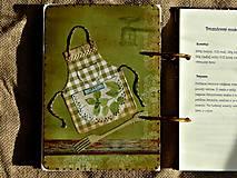 Papiernictvo - Kuchárska kniha - country poľovnícky receptár/Posledný kus - 5341138_