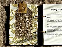 Papiernictvo - Kuchárska kniha - country poľovnícky receptár/Posledný kus - 5341139_