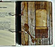 Papiernictvo - Kuchárska kniha - country poľovnícky receptár/Posledný kus - 5341154_