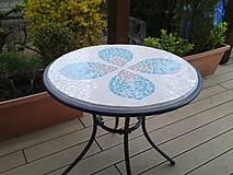 Nábytok - Veľký záhradný stôl Mozaika - predaný - 5341950_
