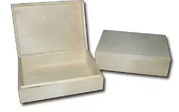 Polotovary - Veľký drevený box s vekom - 5340974_