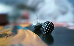 Náušnice - Bodkované blackie puntíky - 5338595_