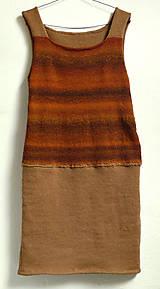 Sukne - hnedá šatová sukňa - 5339939_