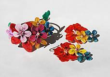 Sady šperkov - color flowers 2 náramok a náušnice - 5344188_
