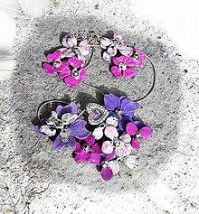 Sady šperkov - fialkové kvety - 5344443_