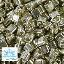 Korálky - TOHO rokajl (Triangle 2mm) Galvanized aluminum - 5344063_
