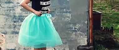 Sukne - Zavinovacia sukňa mentolová - 5346684_