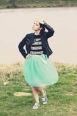 Sukne - Zavinovacia sukňa mentolová - 5346685_
