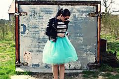 Sukne - Zavinovacia sukňa mentolová - 5347151_