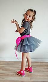Detské oblečenie - Zavinovacia sukňa sivá - 5347295_
