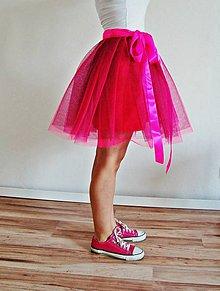 Sukne - Zavinovacia sukňa ružová - 5346789_