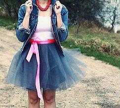 Sukne - Zavinovacia sukňa sivá - 5346978_