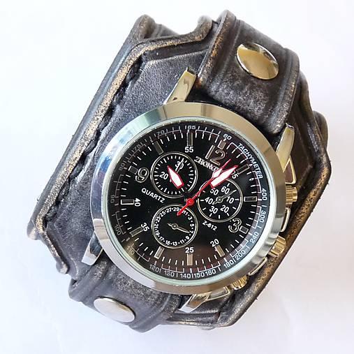 b69c58f39 Pánske hodinky čierna koža / leon - SAShE.sk - Handmade Náramky