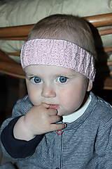 Detské doplnky - Pletená čelenka na ušká - 5342999_