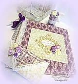 """Papiernictvo - Svadobná kolekcia """"Levanduľové ruže"""" - 5343384_"""