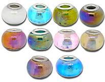 - Pandorkové korálky dúhové sklenené (balíček 5ks) - 5346231_