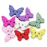Drevené gombíčky motýliky (balíček 30ks)