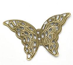 Komponenty - Filigránový prívesok motýlik - 5345775_