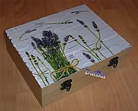 Krabičky - 12 priečinková krabica levandulová robila som na objednávku - 5342961_