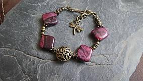 Náramky - náramok z kosoštvorcového kameňa - 5344471_