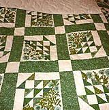 Úžitkový textil - Zelená deka. - 5344050_