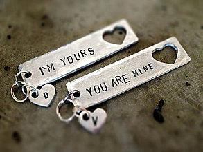 Kľúčenky - ..pre teba a pre mňa / 2ks - 5351552_