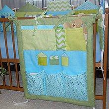 Textil - Vreckár na postieľku*Modrý*70x60 - 5348435_