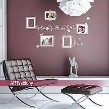 Dekorácie - Novinka*(3659n) Nálepky na stenu- Rámiky pre fotky - 5349323_