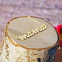 Náhrdelníky - Pozlátená retiazka