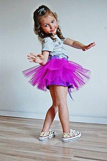 Detské oblečenie - Zavinovacia sukňa fialová - 5351126_