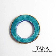 Odznaky/Brošne - Tana šperky -keramika/zlato - 5347916_