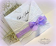 Papiernictvo - Biela fialka... - 5347744_