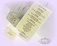"Papiernictvo - Svadobné menu ""Lovely Natur"" - 5350957_"