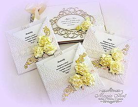 """Papiernictvo - Svadobná kolekcia """"Lovely beige"""" - 5348069_"""