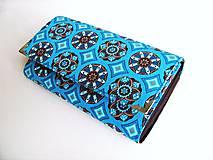 Tyrkysový kaleidoskop - 17 cm, na spoustu karet