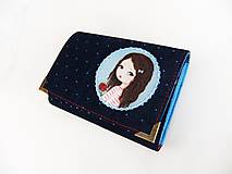 Rozálka s růžičkou - peněženka i na karty 13 cm