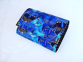 Peňaženky - Luxusní modré čičiny - až na 12 karet - 13 cm - 5350509_