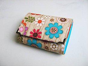 Peňaženky - Kytičky v lese - i na karty, 13 cm - 5350597_