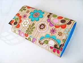 Peňaženky - Kytičky v lese - 17 cm, na spoustu karet - 5350607_