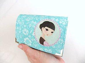 Peňaženky - Terezka s magnólií - peněženka i na karty 13 cm - 5350898_