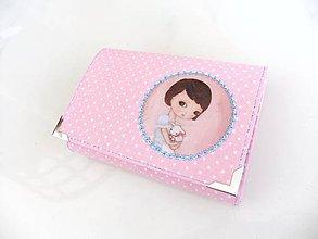 Peňaženky - Eliška s jehňátkem - peněženka i na karty 13 cm - 5350931_