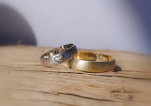 Prstene - Moje srdiečko matované - 5353639_
