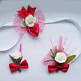 Pierka - Svadobná sada-pierka,náramky-vo vašej farbe - 5353626_