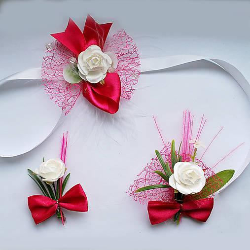 Svadobná sada-pierka,náramky-vo vašej farbe