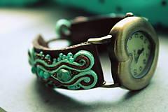 Náramky - Mint & Chocolate - hodinky/náramok - 5353852_