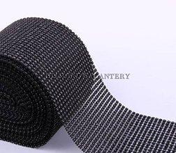 Galantéria - Kamienková stuha čierna - cena za 10 cm - 5354674_