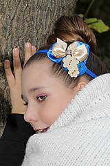 Ozdoby do vlasov - zlato-modrá - 5354194_