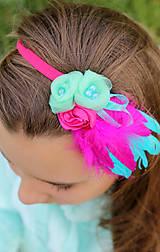 Ozdoby do vlasov - cyklámenová - 5354687_